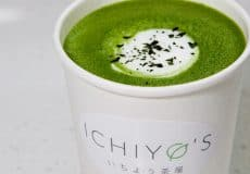 Photo of matcha latte from Ichiyo's