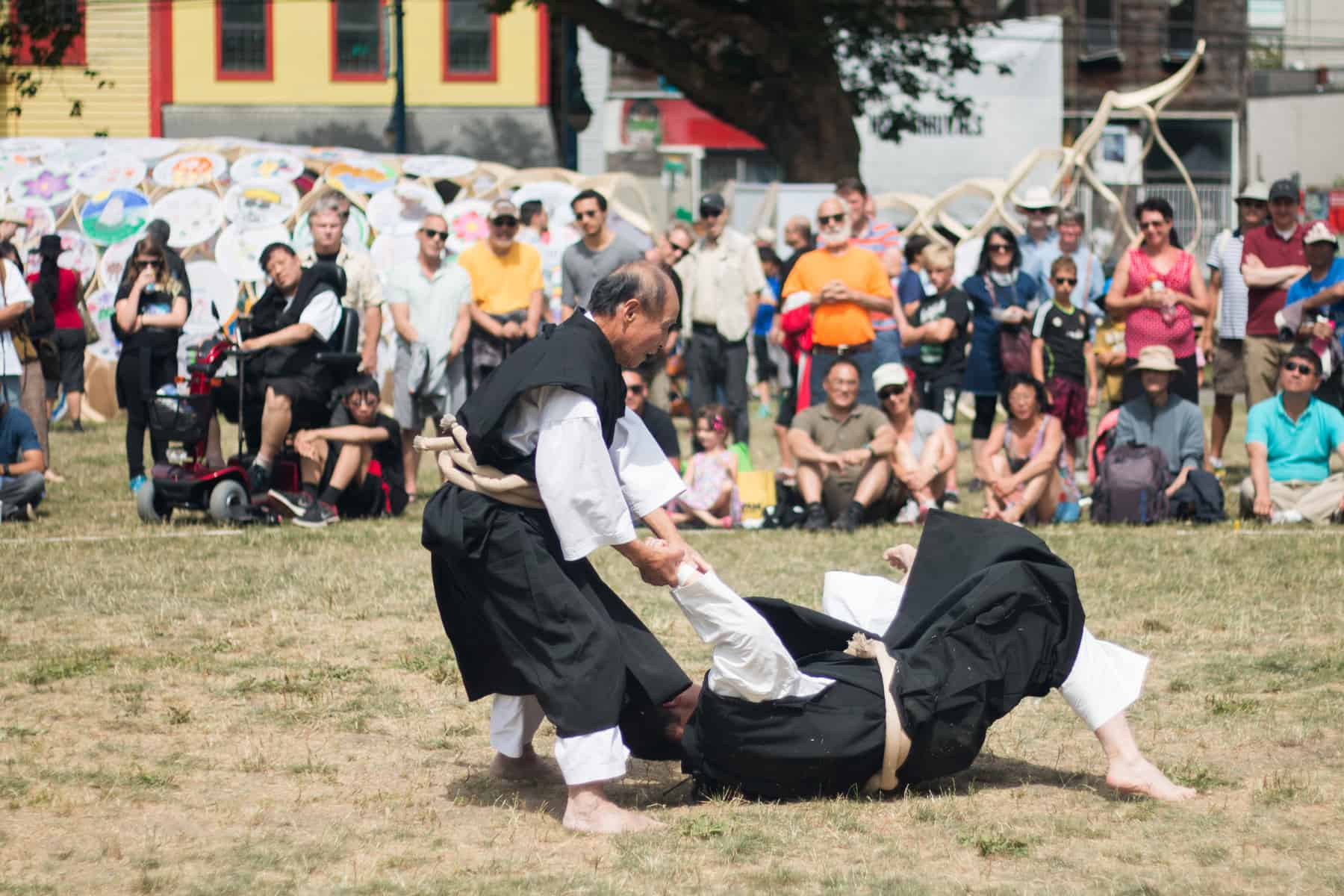 Photo of Shorinji Kempo at the 2016 Powell Street Festival by Kritstin Fuchihara