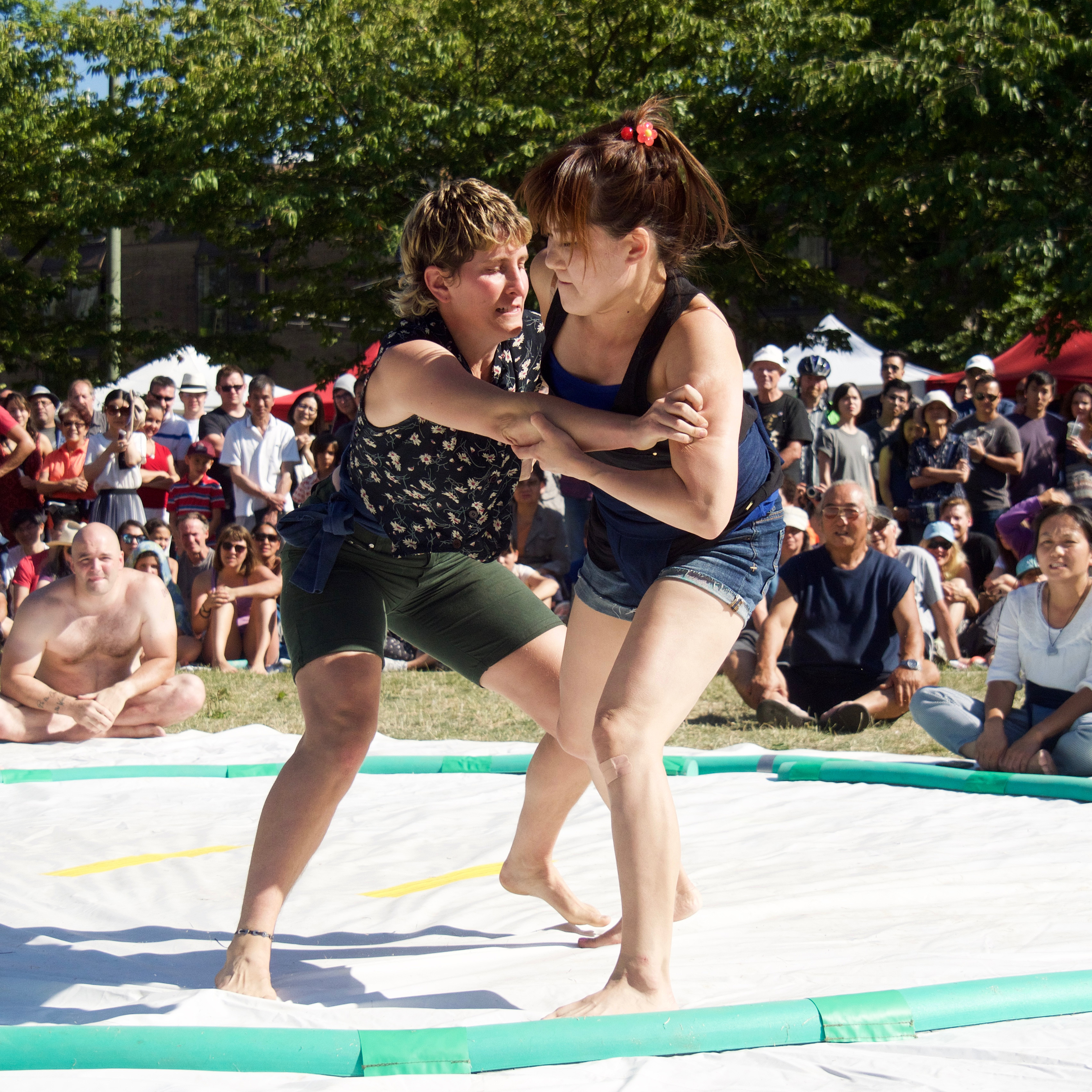 Photo of Sumo Tournament at 2016 Powell Street Festival by Ed Law
